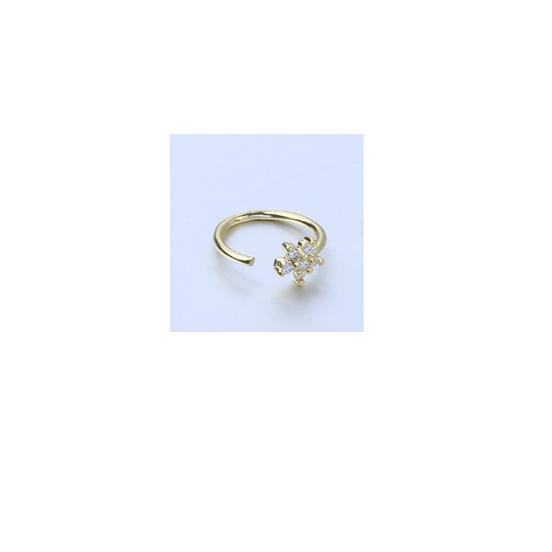 Lindie Faux Zircon Nose Ring