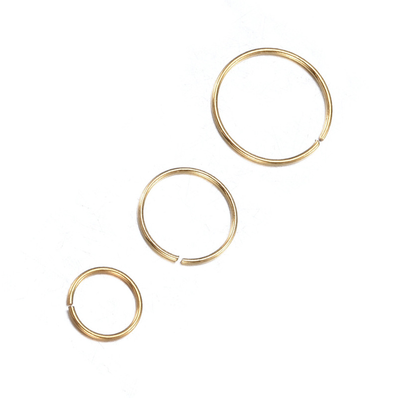 Minimalist Stainless Steel Nose Hoops (3 Pieces/Set)
