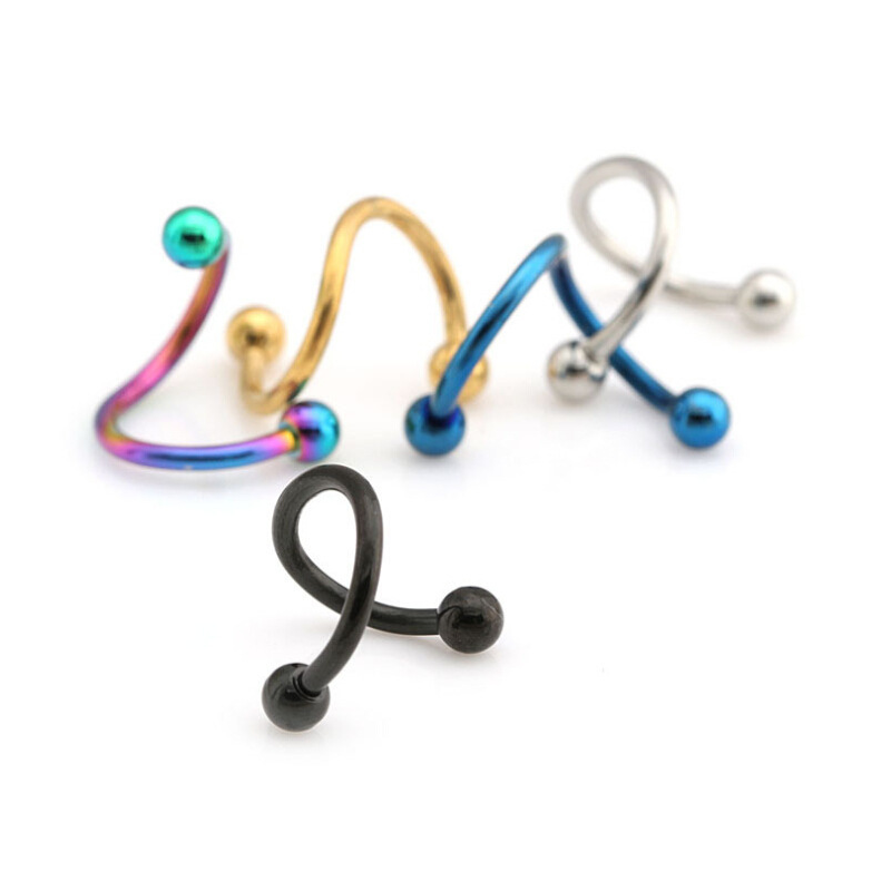 Twisted Barbell Hugging Piercing Jewelry