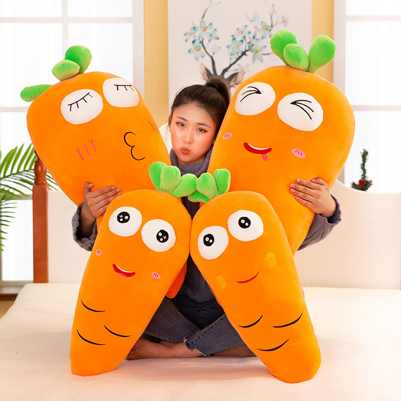 Funny Carrot Face Plushie