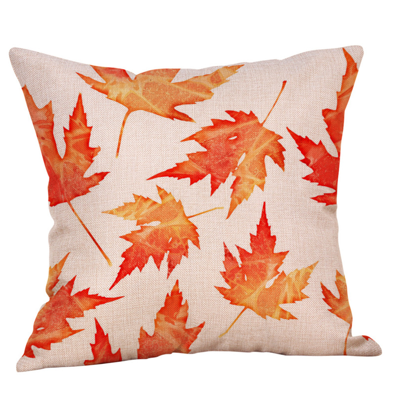 Autumnal and Fall-Inspired Leaf Pillow Cases