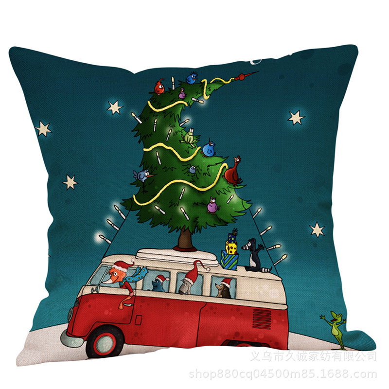 Christmas Haul Illustrative Pillow Cases