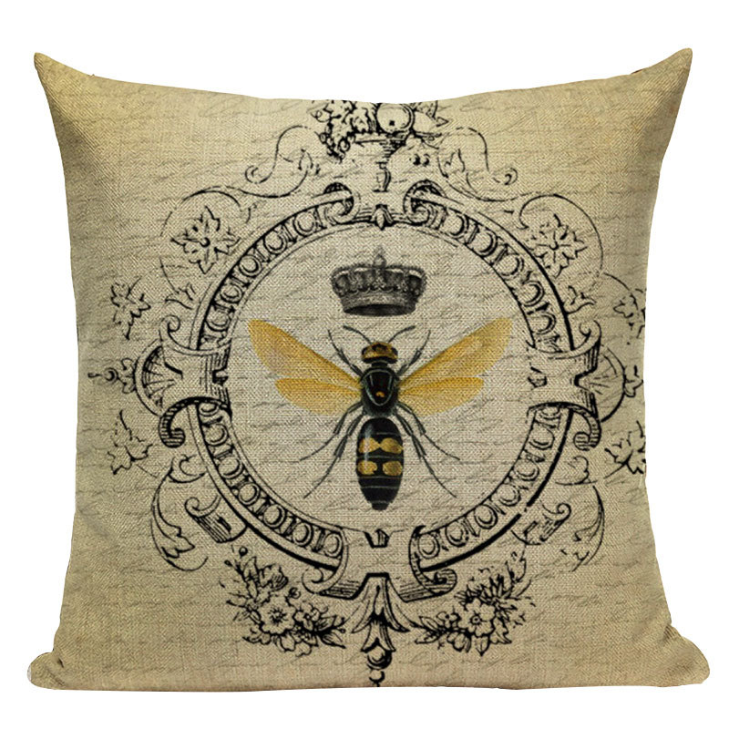 Vintage Insect Print Pillowcase