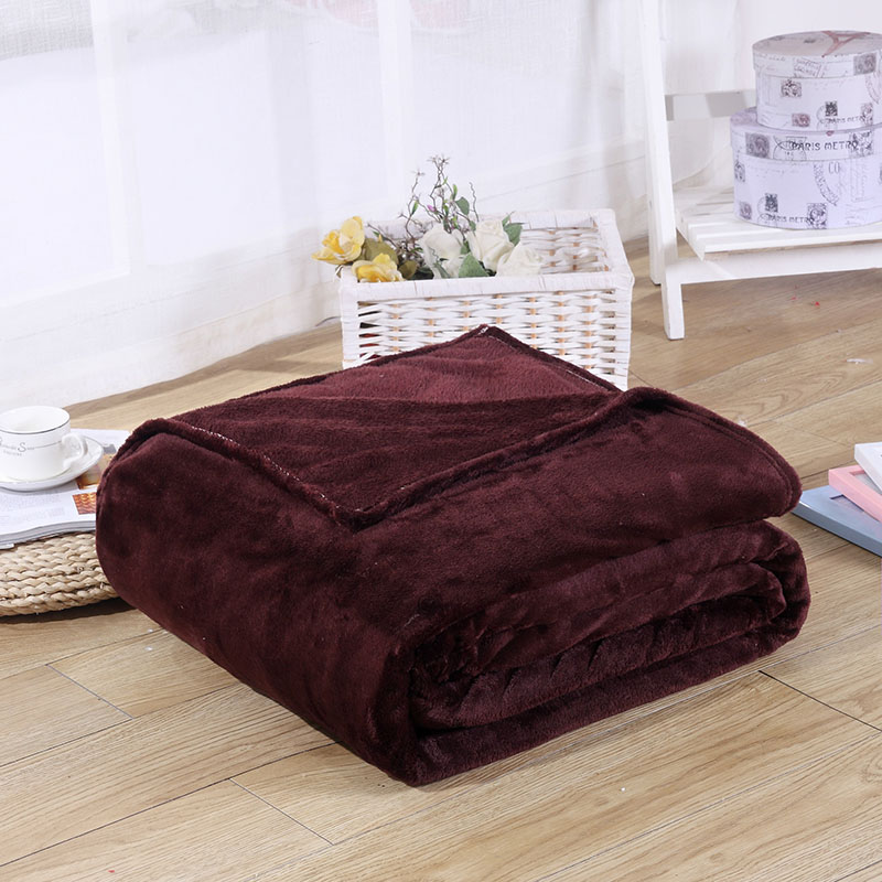 Colored Coral Fleece Blanket for Sofa Design
