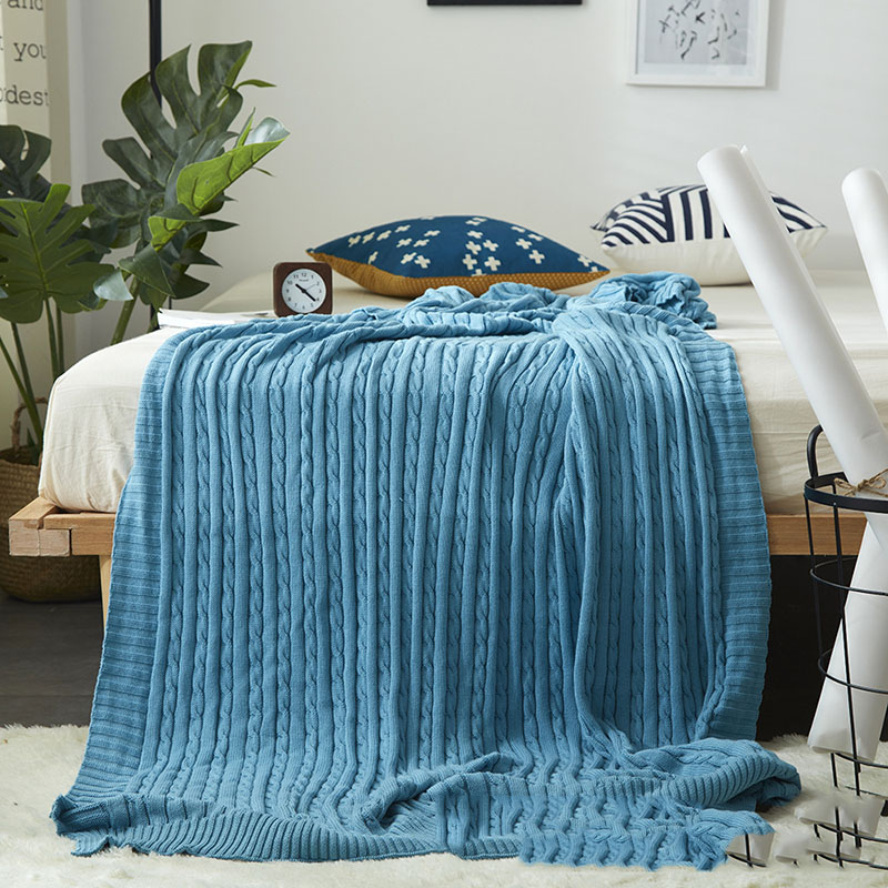 Braided Illusion Cotton Blanket