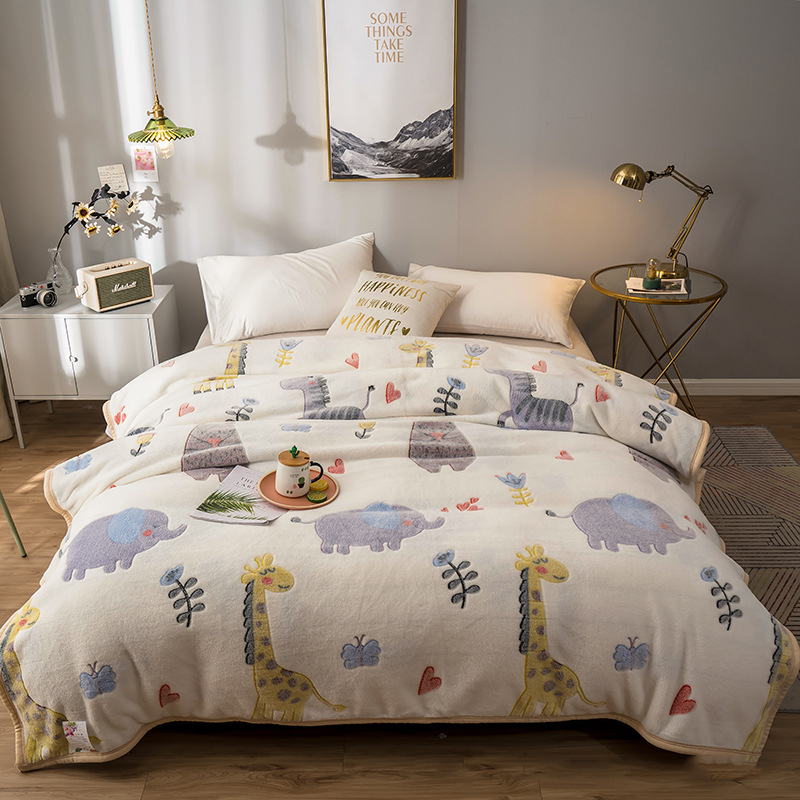 Fun Flowers and Animals Blankets for Lovely Rooms