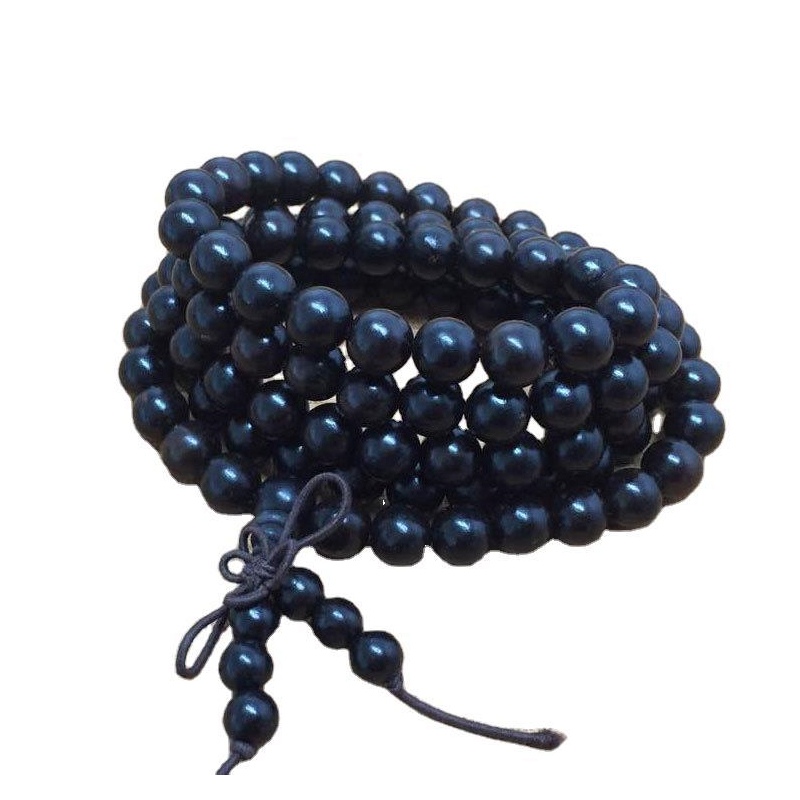 Black Rosary Beads Stack