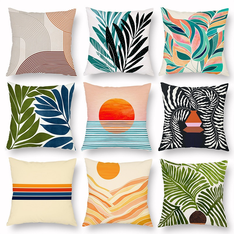 Lines and Leaves Pillow Case Collection