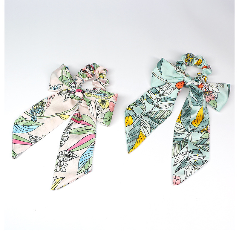 Elegant Flower Prints Pony Scarf