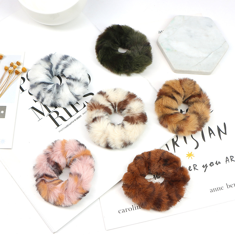 Synthetic Fur Hair Tie