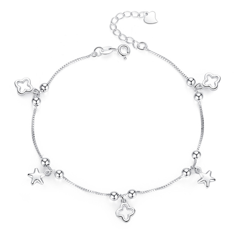 Clover and Stars Anklet
