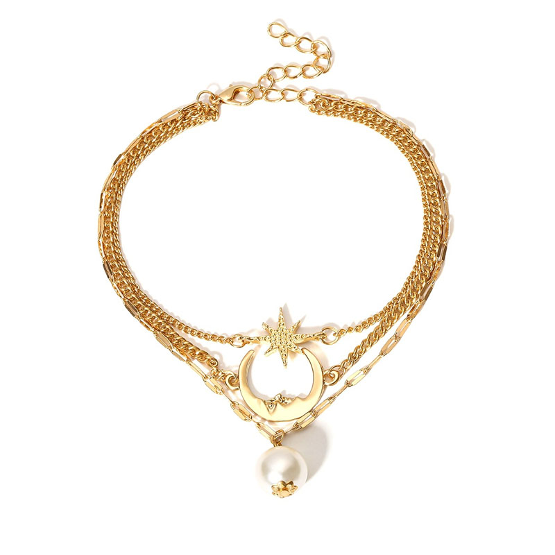 Acuesta Sky and Faux Pearl Anklet