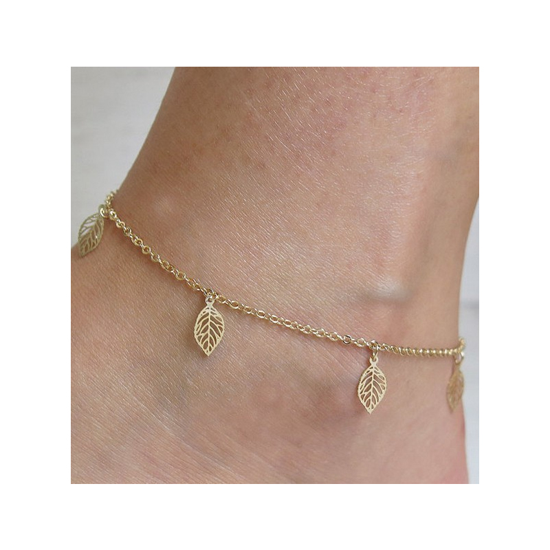 Gianna Golden Leaves Anklet