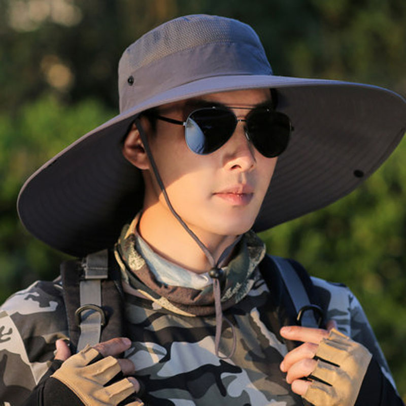 Sun Protection Wide Bucket Hat