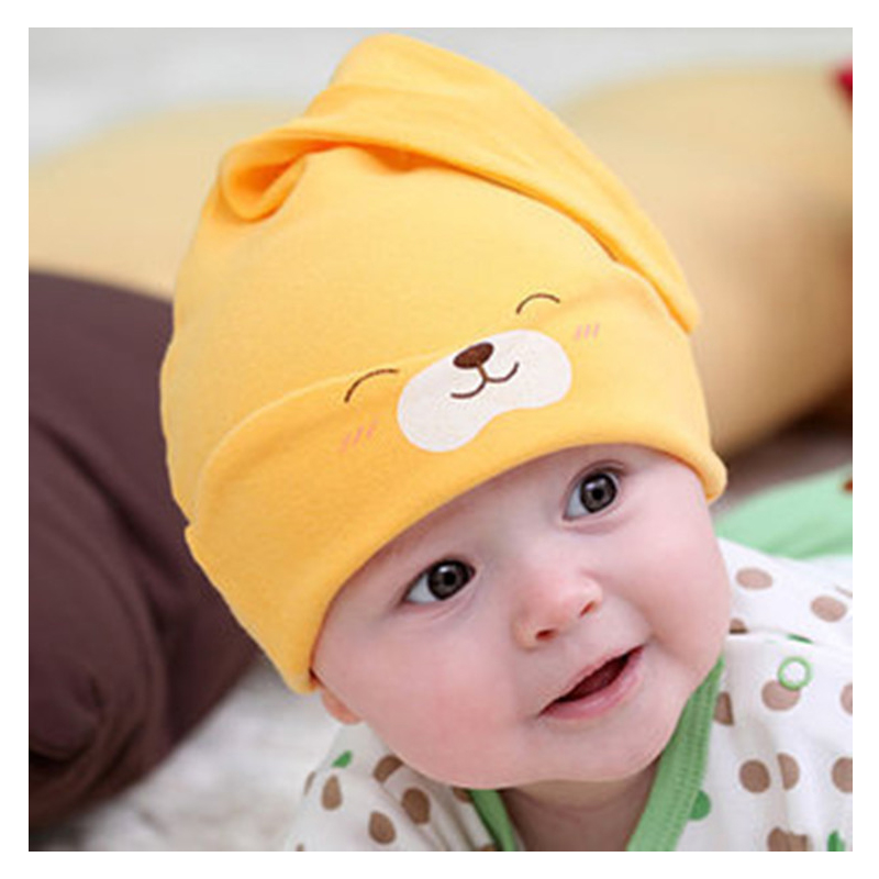 Smiling Bear Baby Sleeping Cap