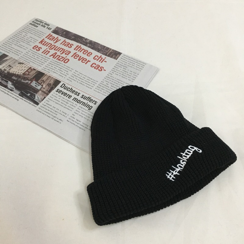 Hashtag Knit Statement Beanie