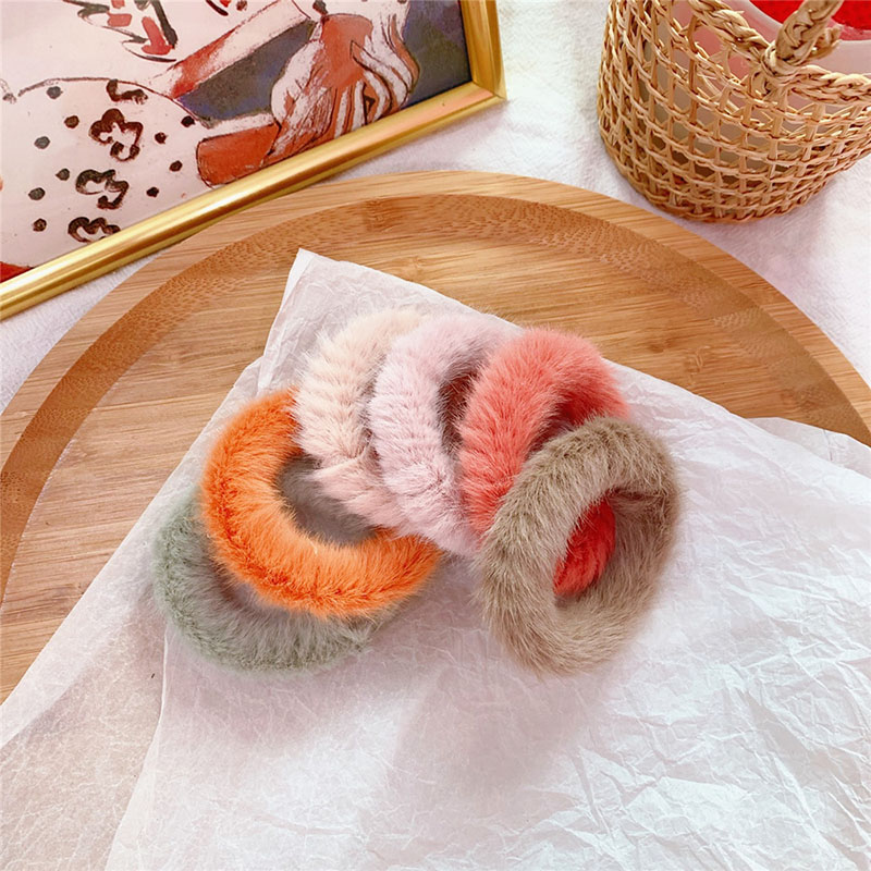 Colored Plush Hair Tie