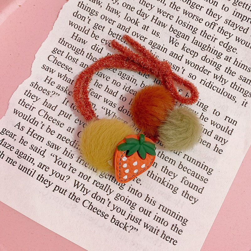Poms and Charms Plush Hair Tie