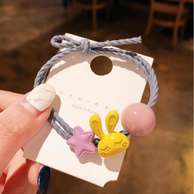 Bunny with Star and Circle Double Hair Tie