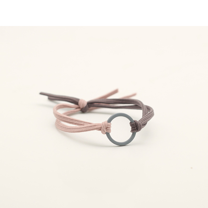Minimalist Circle Two Tone Hair Tie