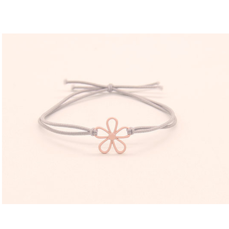 Flower Line Art Hair Tie