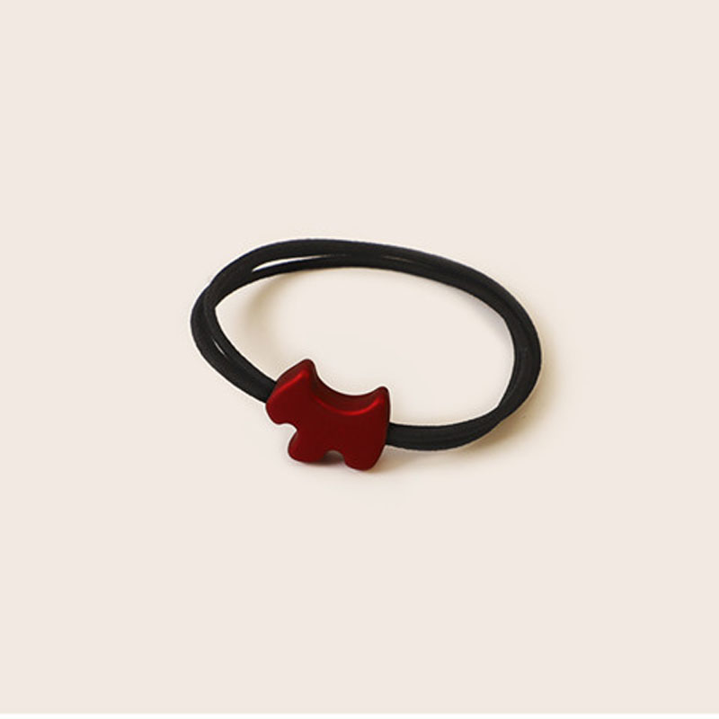 Garnet Red Charm Hair Tie
