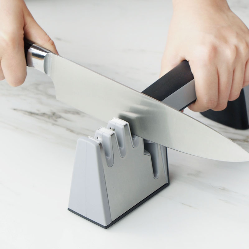 Four Section Blade Sharpener for Knives and Scissors
