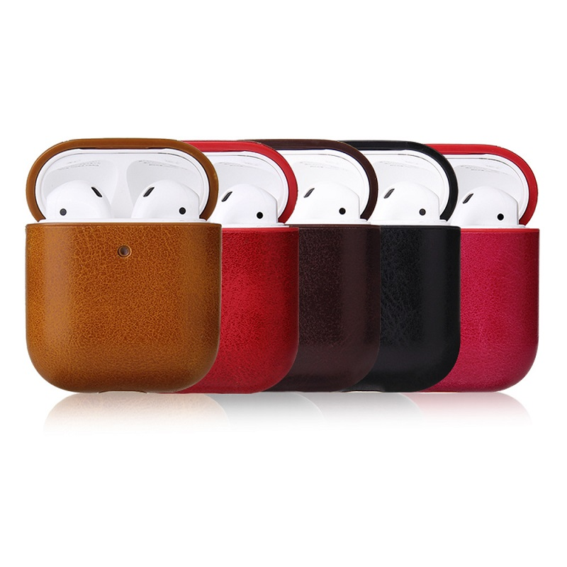 Sleek Faux Leather Airpods Case for Airpods Generation 1 or 2
