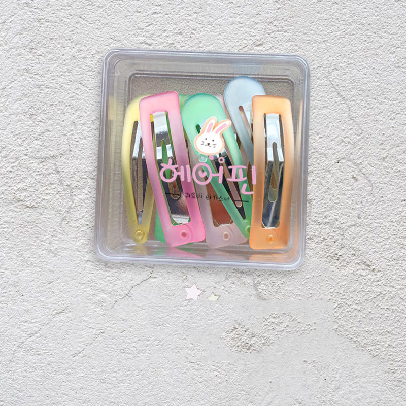Candy Colored Snap Clip (8 Pieces/Set)