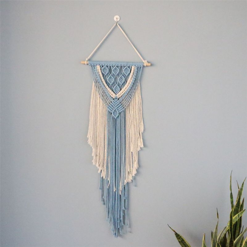 White and Blue Cotton Rope Wall Décor