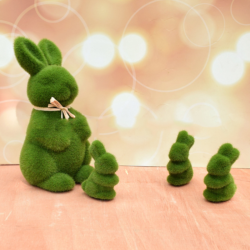 Green Bunny Ornament for Celebrating Easter Day