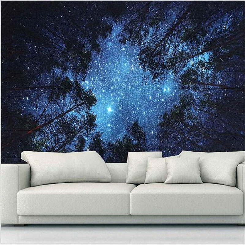 Forest at Night Tapestry