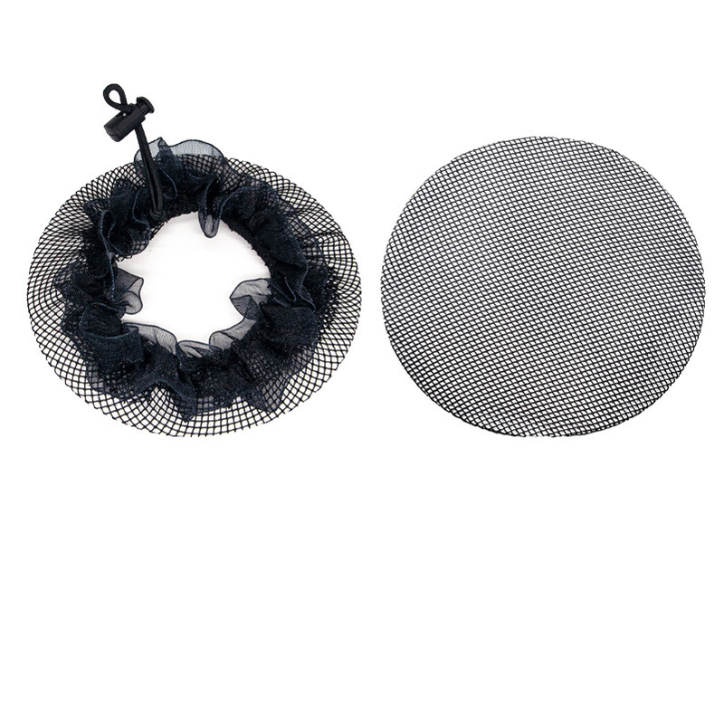 Multi-Colored Mesh Dance Hair Bun Cover for No Stray Hairs