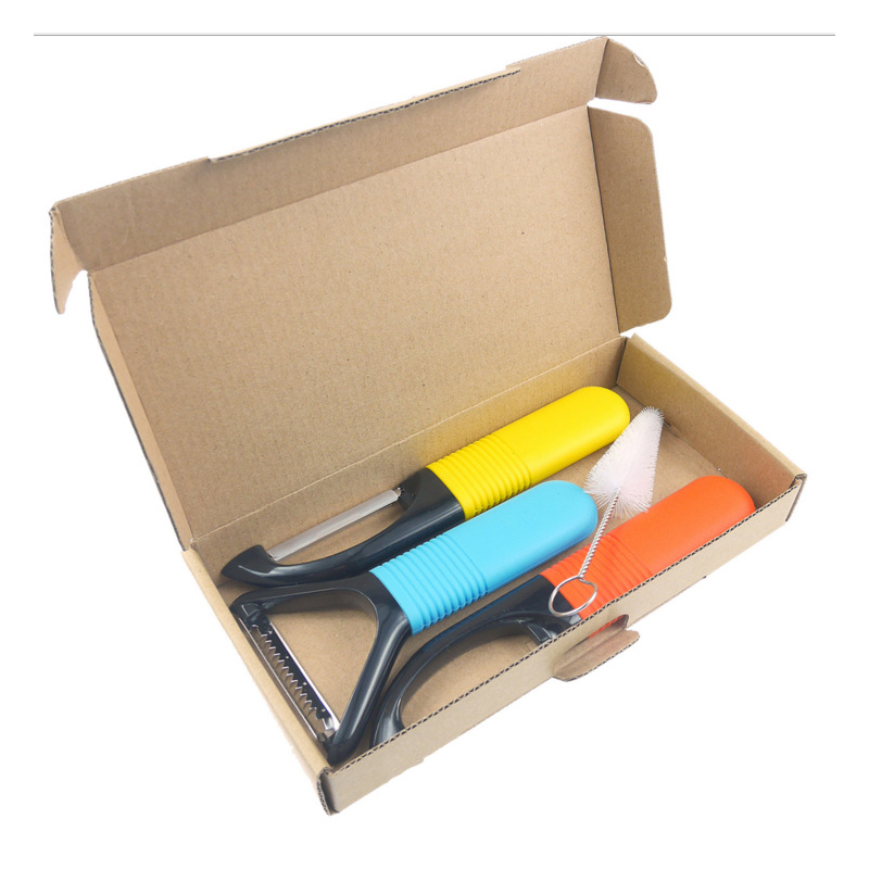 Colorful Fruit and Vegetable Peeler Set (4 Pieces/Set)