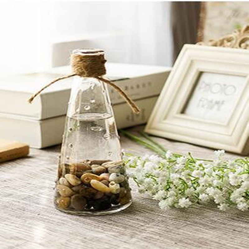 Etched Clear Glass Vase for Rustic Homes