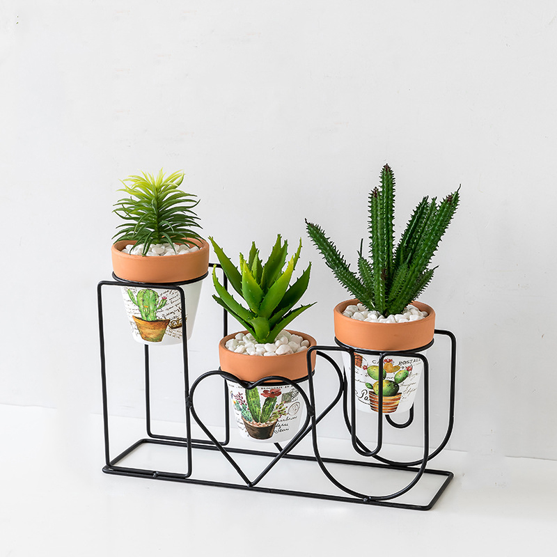 Creative Small Potted Fake Succulent for Desktop Decoration