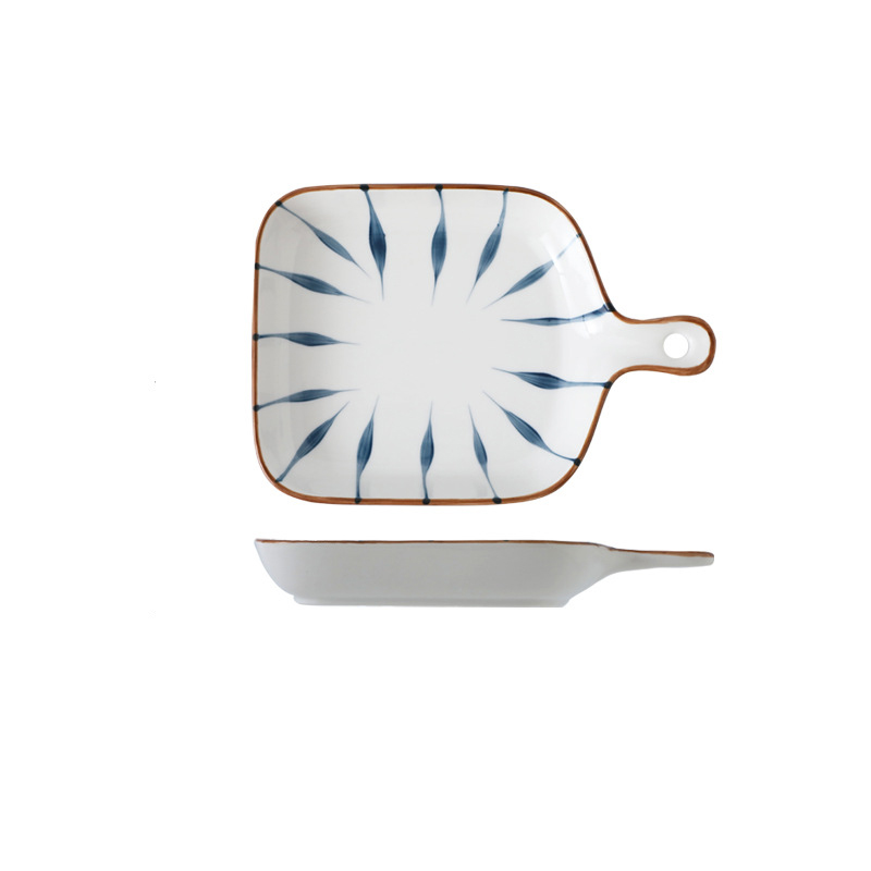 Creative Plate with Handle for Baking and Salad Dishes