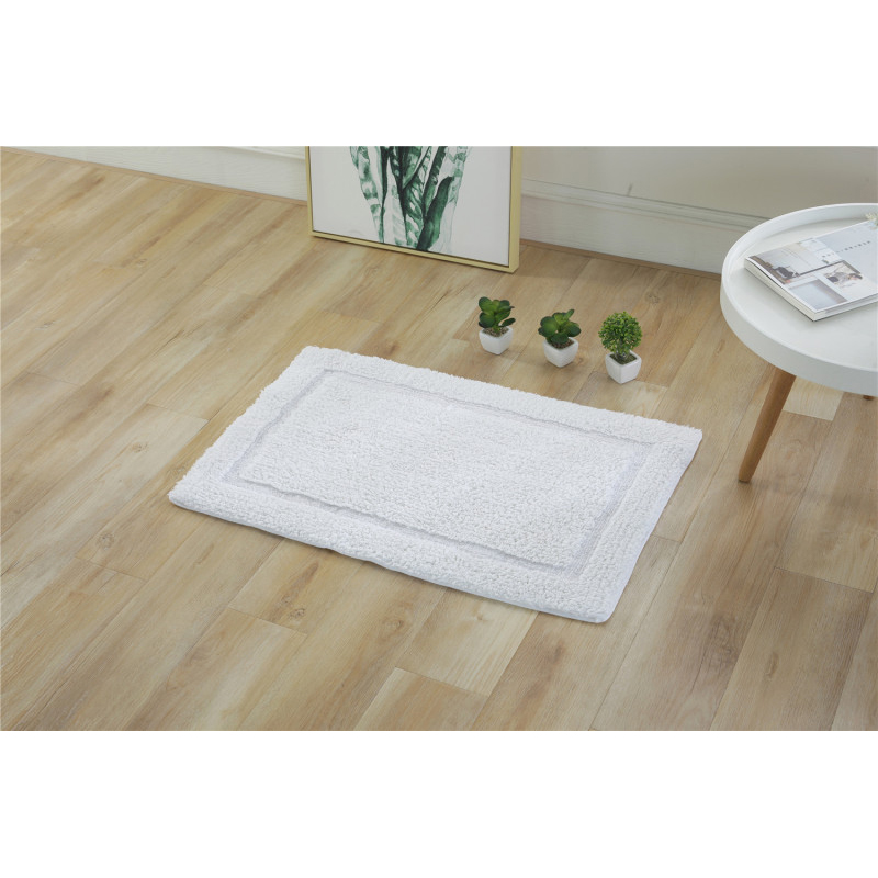 Absorbent Rectangle Plush Floor Mat