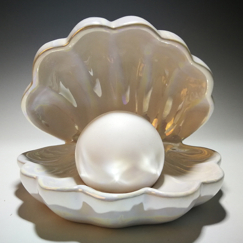 Fancy Faux Pearl on Clam for Mermaid Wannabes