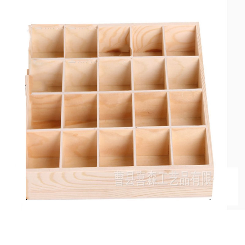 Solid Wood Grid Organizer for Jewelry
