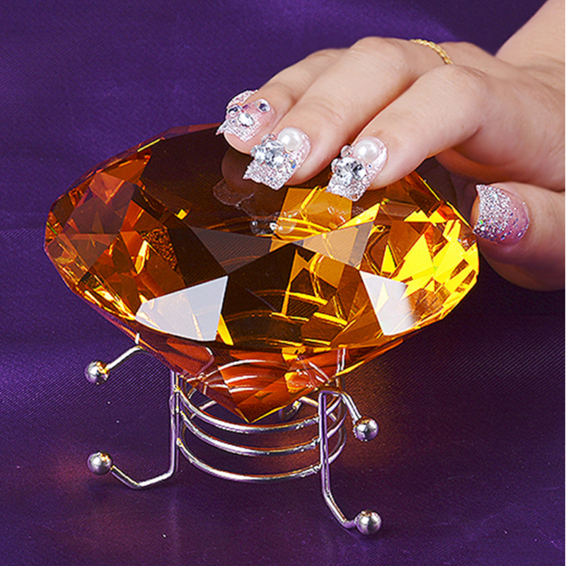 Elegant Faux Crystal Diamond Jewelry Holder for Table Decoration