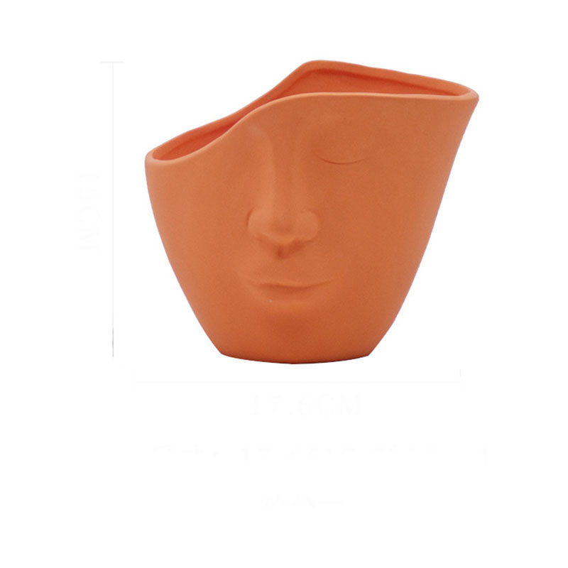 Handmade Ceramic Face Vases for Artistic Home Owners