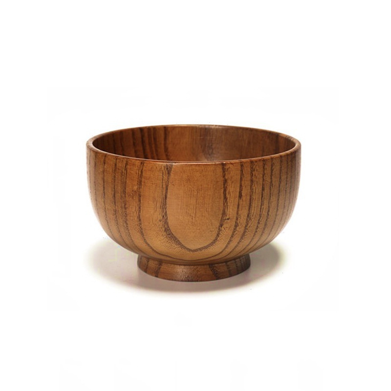 Wooden Soup and Rice Bowl for Household Use