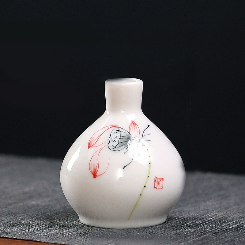 Mini Floral Ceramic Vase for Simple Gifts
