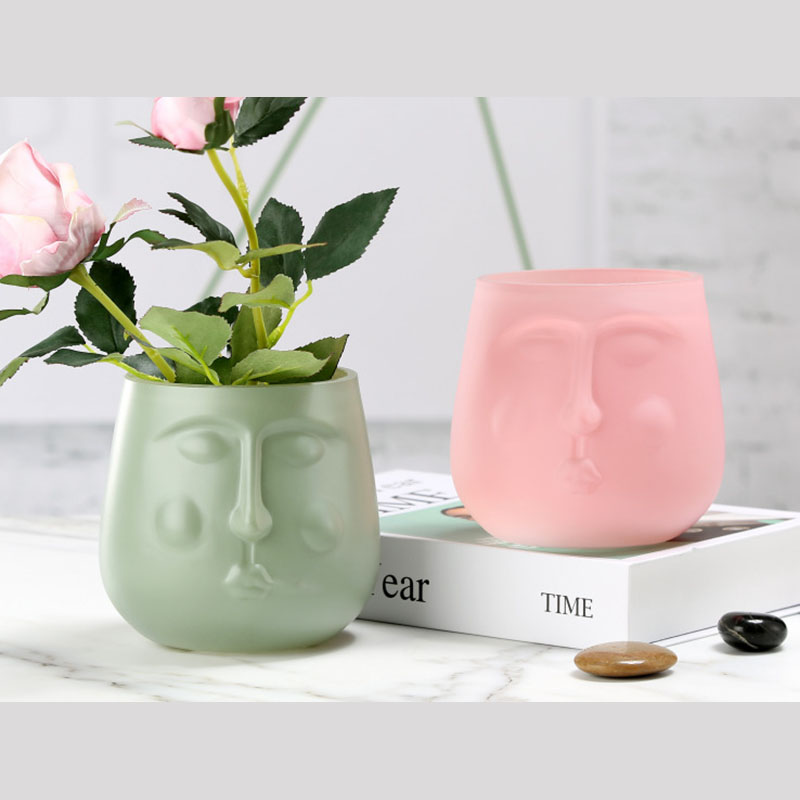Colorful Face Vase Collection for Office Decor