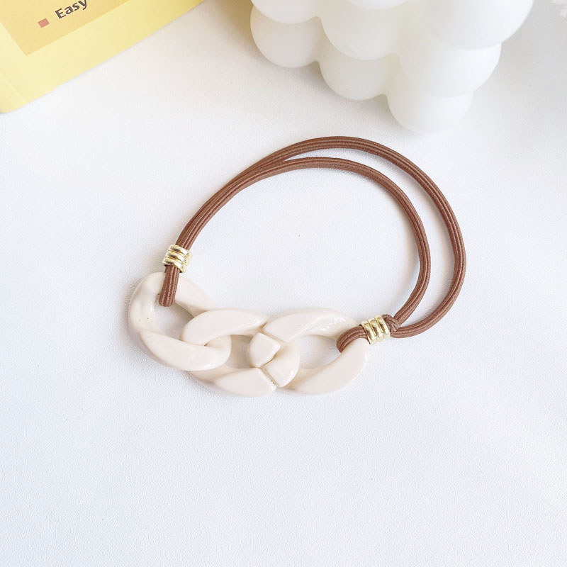 Modern Acrylic Chain Hair Accessories for Office Wear