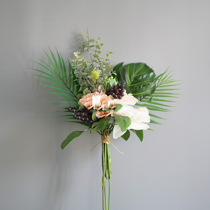 Simulation Bouquet of Arranged Flowers for Table Decoration