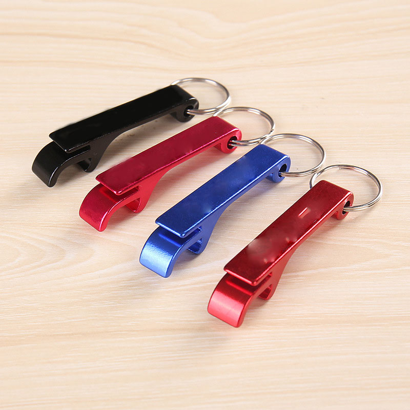 Creative Metal Bottle Opener for Functional Keychain Attachments