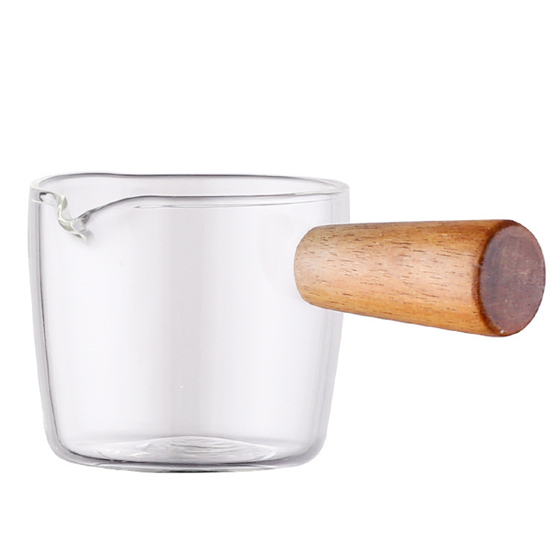 Wooden Handle Pouring Pot for Sauces