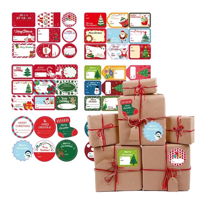 Christmas Sticker Tags